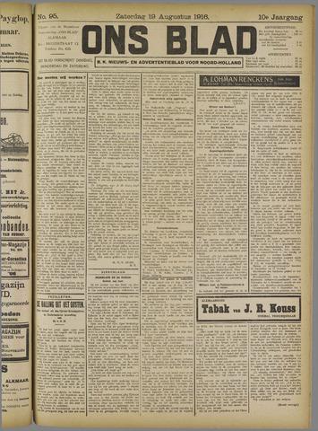 Ons Blad : katholiek nieuwsblad voor N-H 1916-08-19