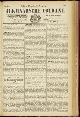Alkmaarsche Courant 1896-08-21