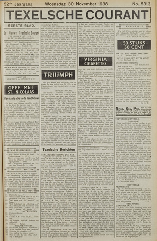 Texelsche Courant 1938-11-30