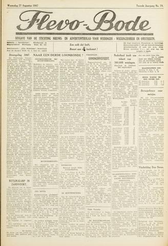 Flevo-bode: nieuwsblad voor Wieringen-Wieringermeer 1947-08-27