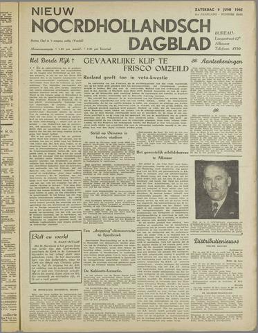 Nieuw Noordhollandsch Dagblad : voor Alkmaar en omgeving 1945-06-09