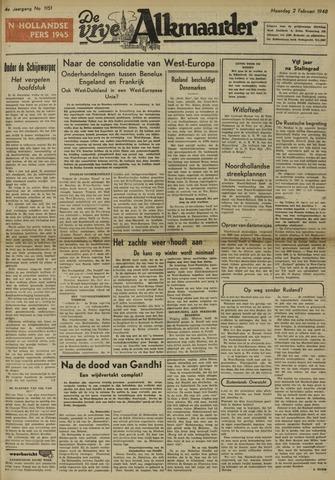 De Vrije Alkmaarder 1948-02-02