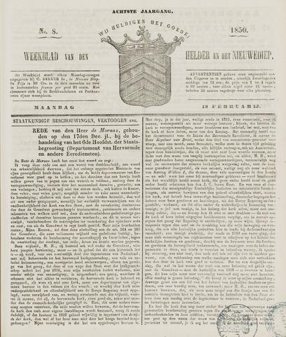 Weekblad van Den Helder en het Nieuwediep 1850-02-18