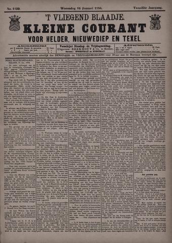 Vliegend blaadje : nieuws- en advertentiebode voor Den Helder 1884-01-16