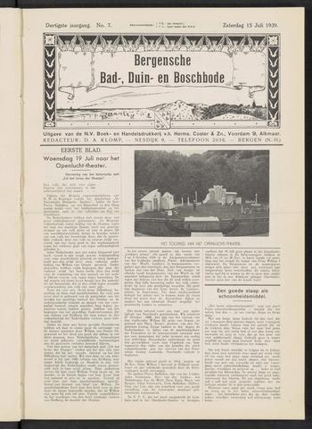 Bergensche bad-, duin- en boschbode 1939-07-15