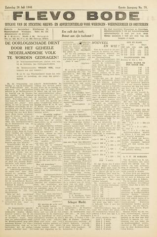 Flevo-bode: nieuwsblad voor Wieringen-Wieringermeer 1946-07-20