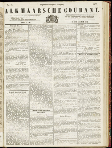 Alkmaarsche Courant 1877-12-09