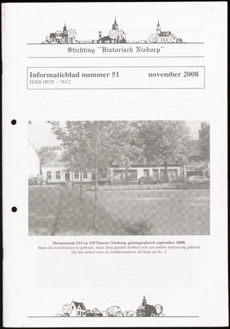 Informatieblad stichting Historisch Niedorp 2008-11-01