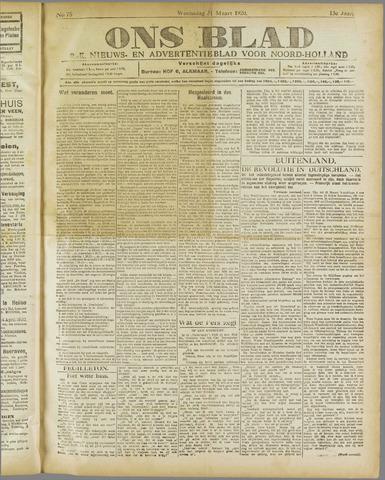 Ons Blad : katholiek nieuwsblad voor N-H 1920-03-31