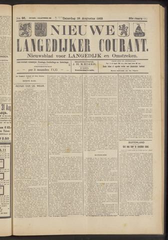 Nieuwe Langedijker Courant 1923-08-18