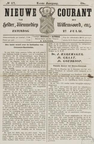 Nieuwe Courant van Den Helder 1861-07-27