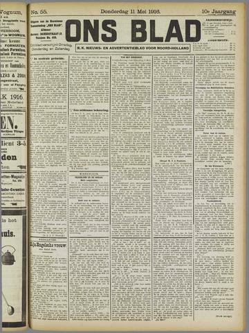 Ons Blad : katholiek nieuwsblad voor N-H 1916-05-11