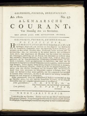 Alkmaarsche Courant 1800-11-10