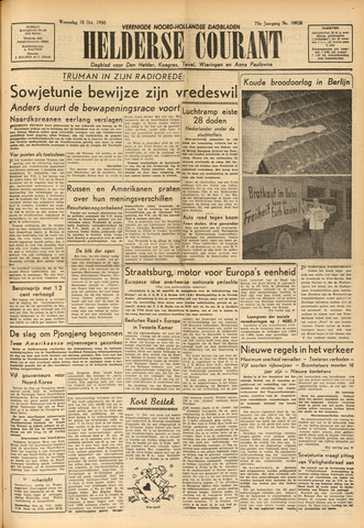 Heldersche Courant 1950-10-18