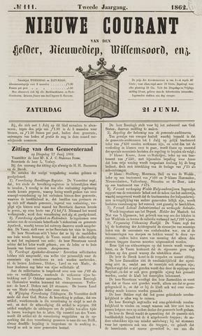 Nieuwe Courant van Den Helder 1862-06-21