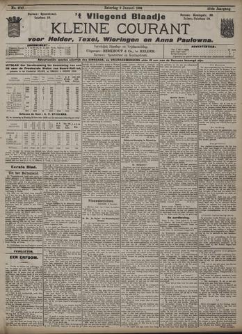 Vliegend blaadje : nieuws- en advertentiebode voor Den Helder 1909-01-09