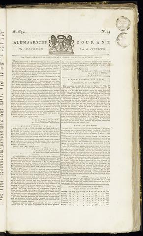 Alkmaarsche Courant 1839-08-26