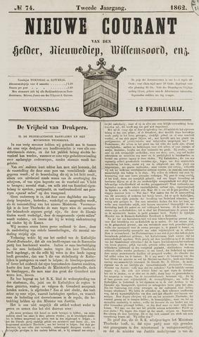 Nieuwe Courant van Den Helder 1862-02-12