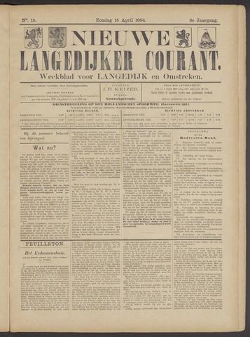 Nieuwe Langedijker Courant 1894-04-15