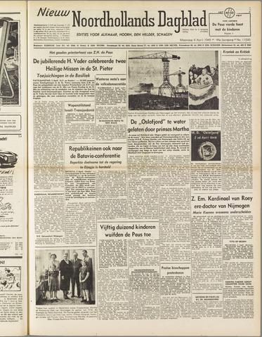Nieuw Noordhollandsch Dagblad : voor Alkmaar en omgeving 1949-04-04
