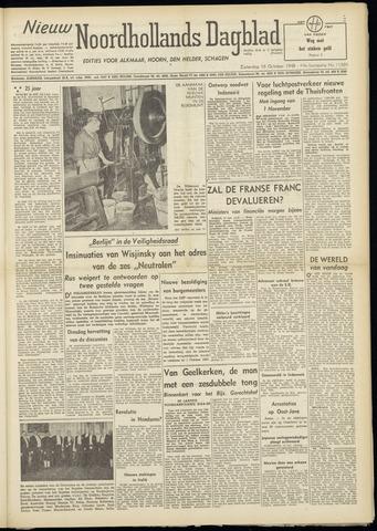 Nieuw Noordhollandsch Dagblad : voor Alkmaar en omgeving 1948-10-16