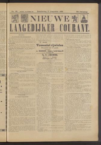 Nieuwe Langedijker Courant 1922-08-17