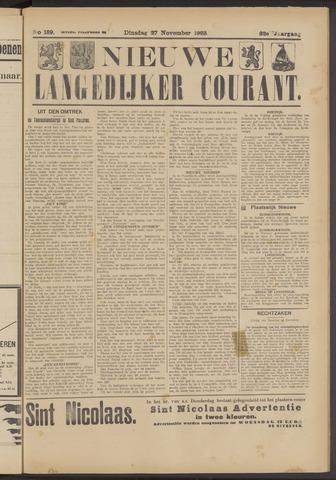 Nieuwe Langedijker Courant 1923-11-27