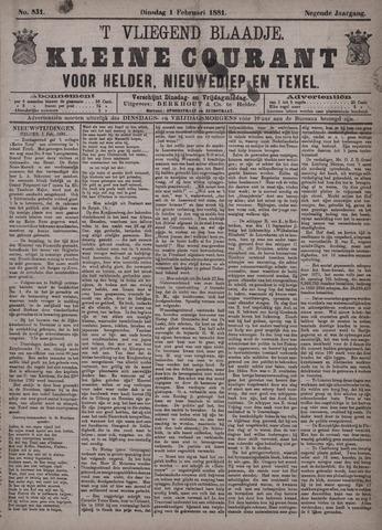 Vliegend blaadje : nieuws- en advertentiebode voor Den Helder 1881-02-01