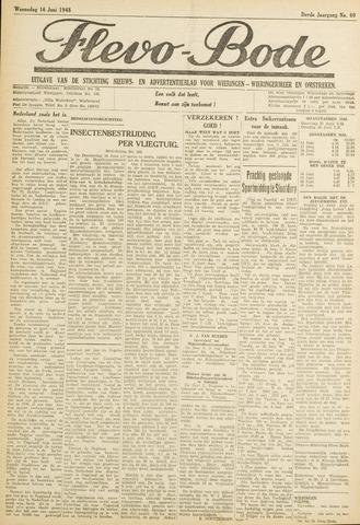 Flevo-bode: nieuwsblad voor Wieringen-Wieringermeer 1948-06-16