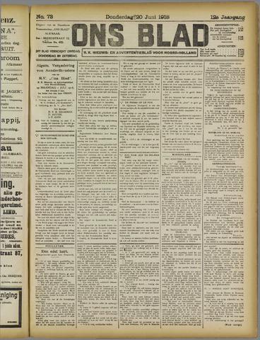 Ons Blad : katholiek nieuwsblad voor N-H 1918-06-20