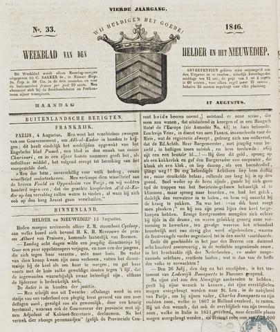 Weekblad van Den Helder en het Nieuwediep 1846-08-17