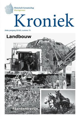 Kroniek Historisch Genootschap Wieringermeer 2016-12-01