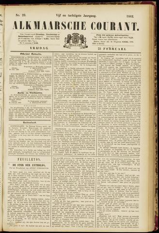 Alkmaarsche Courant 1883-02-23