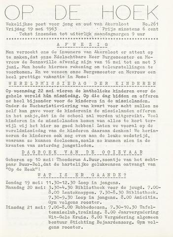 Op De Hoek, weekblad voor Akersloot 1963-05-19