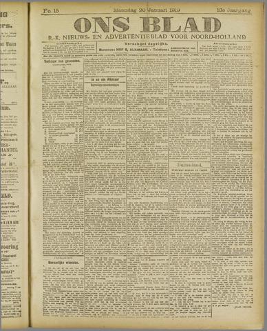 Ons Blad : katholiek nieuwsblad voor N-H 1919-01-20