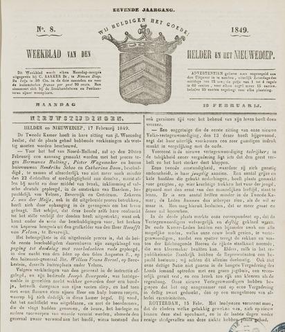Weekblad van Den Helder en het Nieuwediep 1849-02-19