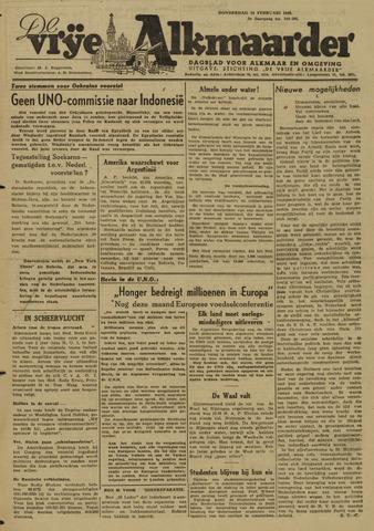 De Vrije Alkmaarder 1946-02-14