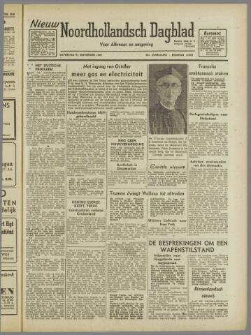 Nieuw Noordhollandsch Dagblad : voor Alkmaar en omgeving 1946-09-21