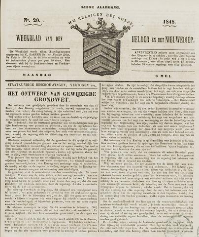 Weekblad van Den Helder en het Nieuwediep 1848-05-08