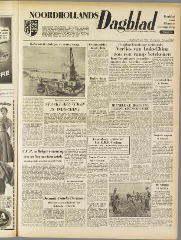 Noordhollands Dagblad : dagblad voor Alkmaar en omgeving 1954-04-08