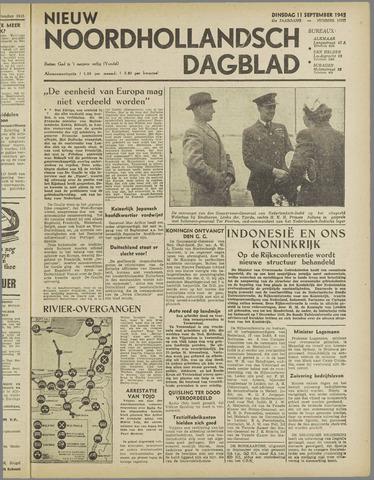 Nieuw Noordhollandsch Dagblad : voor Alkmaar en omgeving 1945-09-11