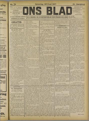 Ons Blad : katholiek nieuwsblad voor N-H 1917-06-23
