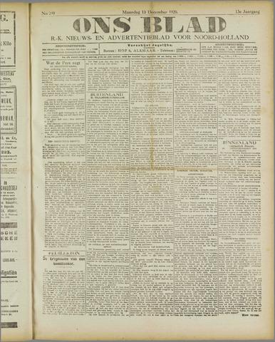 Ons Blad : katholiek nieuwsblad voor N-H 1920-12-13