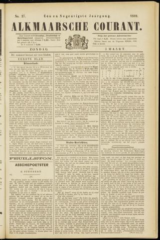 Alkmaarsche Courant 1889-03-03