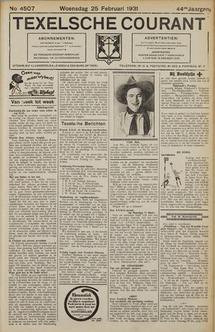 Texelsche Courant 1931-02-25