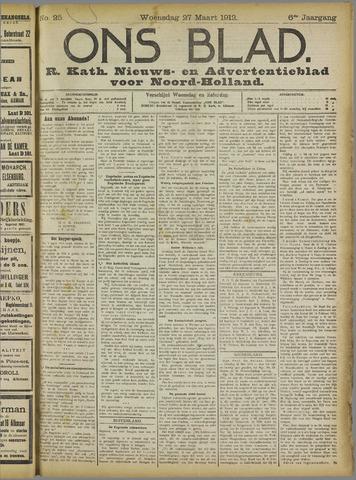 Ons Blad : katholiek nieuwsblad voor N-H 1912-03-27