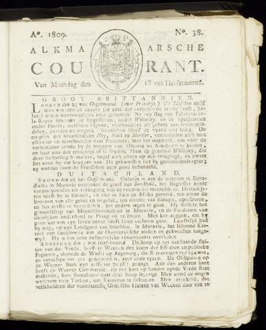 Alkmaarsche Courant 1809-09-18