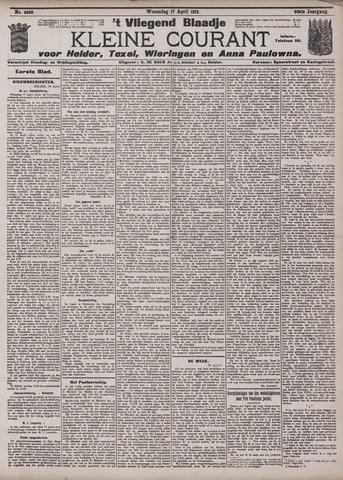 Vliegend blaadje : nieuws- en advertentiebode voor Den Helder 1912-04-17