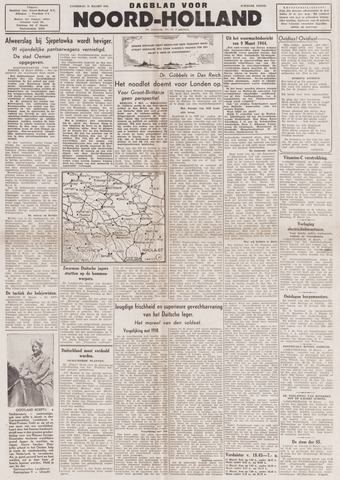 Dagblad Noord-Holland, Schager editie 1944-03-11