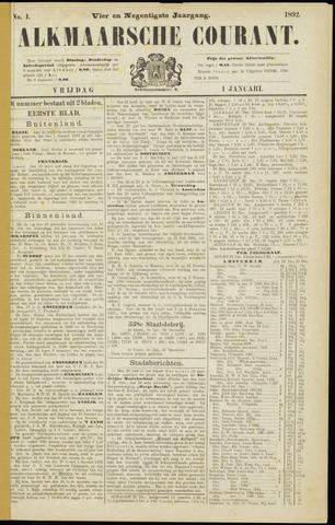 Alkmaarsche Courant 1892-01-01